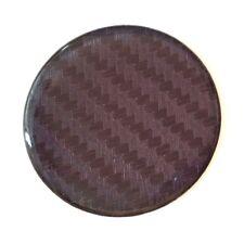 Efecto De Fibra De Carbono Negra STICKER/DECAL 42 mm diámetro semicirculares de gel acabado de alto brillo