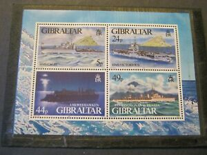 GIBRALTAR  1995  WARSHIPS  MINIATURE SHEET  SG MS748  MINT NEVER HINGED