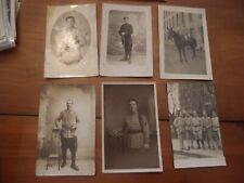 Lot de 6 CPA photos militaires soldat en tenue poilus