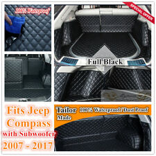 Custom Made Car Boot Cargo Mat Wheel Arches Cover Liner for Jeep Compass Limited