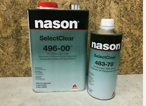 496-00 2K Urethane Clear Coat Spot Clear Gallon With 483-78 Activator Kit
