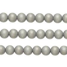 Wood Round Beads Light Grey 8mm 16 Inch Strand