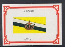 Monty Gum 1980 Flags Cards - Card No 15 - Brunei  (T650)