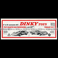 DINKY TOYS 1970 FIAT ABARTH 2000 (1430) FERRARI 312 P (1432) Pub Ad #E120