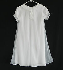 Vtg Nan Flower Intimate Night Gown Size S Nylon Cap Sleeve Lace Trim