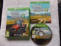 FARMING SIMULATOR 17 XBOX ONE V.G.C. FAST POST ( simulation game & complete )