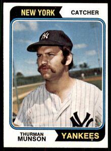1974 Topps #340 Thurman Munson New York Yankees