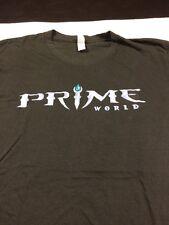 Prime World Game Shirt Large Promo Pc Nival Xbox 360 Nintendo Saga Classic Gray