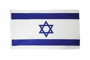 israel flag 3 x 5 ( super polyester ) star of david ( new ) 100D