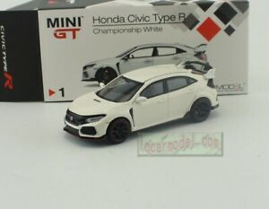 1:64 TSM MINI GT Honda CIVIC TYPE R FK8 White LHD MGT00001-L Diecast