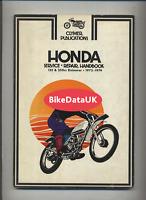 Honda Elsinore CR 125 250 M (1973-1974) Clymer Shop Manual Book MT 125 250 DF90