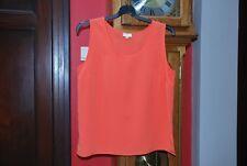 Top T-shirt basique orange sans manches Taille 44 pour l'été Très Bon Etat!