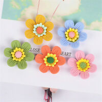 25mm Assorted Colours Matte Resin Daisy Flowers Decorations Flat Back 20 Pack