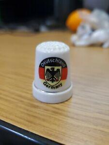 Vintage White Thimble Ceramic Made In Germany. Deutschland.