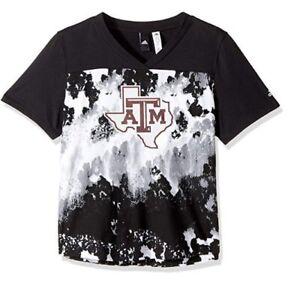 adidas NCAA Texas A&M Aggies Women's Oxidized Print Tee, XX-Large, Camo 2XL
