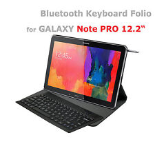Samsung Galaxy Note PRO 12.2 Wireless Bluetooth Keyboard Folio Removable Design