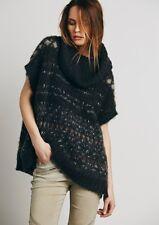 New Free People ivory Fairisle Maiden Cowl Neck Sweater Vest $128 X-SMALL Gray