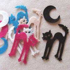 U Pick 10 Halloween Wool Blend Felt Die Cut Scardy Cat