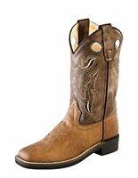 Jama//Old West Kids Tan Western Boots CF8229