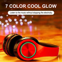 Foldable Wireless Bluetooth 5.0 Headphones Headset Earphones Noise Cancelling