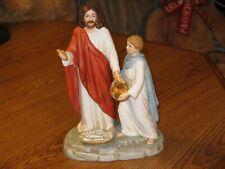 Vintage 1999 Jesus Feeding The Multitudes Home Interiors Porcelain Figurine
