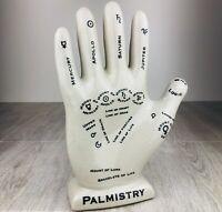 "Palmistry Ceramic Hand Tarot Card Reading Psychic Reflexology 12"" Astrology"