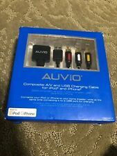 Auvio Composite A/V & USB Charging Cable for iPod & iPhone NEW!  (1201317)