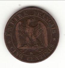 NAPOLEON III  RARE 5 CENTIMES  1853 BORDEAUX    b1 t7