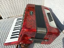 More details for bell accordion piano accordian hohner   1970s german instrument