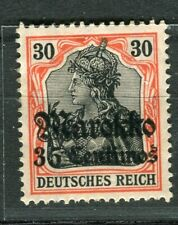 GERMAN COLONIES; MAROKKO early 1905 Wmk. issue Mint hinged 35c. value