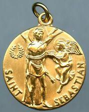 Saint Sebastian Religious Pendent 12k Gold Filled