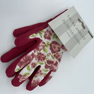 Laura Ashley All Weather Glives Gardening Gloves Cressida Floral Pink Size Small