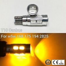 T10 W5W 194 168 2825 12961 Reverse Backup Light Amber 10 Smd Canbus Led M1 Ar(Fits: Neon)