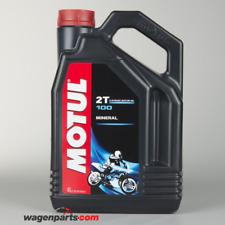 Aceite Moto engrase separado motor 2 tiempos MOTUL 100 2T, 4 litros