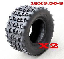 Pair of 18x9.50-8 REAR UTV Tire/Tyre 200/250cc ATV Quad Bike Buggy Tractor Mower