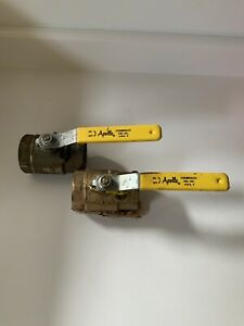 "2 Apollo 600WOG 2"" brass ball valves, used, in good condition."