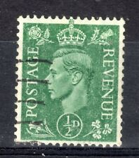 GB = G6 era, 1941 1/2d Pale Green. VFU with massive OFF-SET to reverse. SG485.