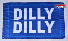 Dilly Dilly Flag Banner 3x5 ft Bud Light Beer Budweiser's Garage Blue