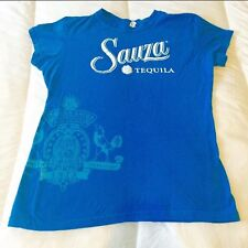 Sauza Tequila Blue Graphic Juniors Small Shirt Advertising Alcohol Liquor Party