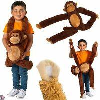 NEW Big 75cm Soft Toy Kids Plush Stuffed Cuddly Animal Wild Jungle Brown Monkey