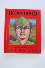 "Nick Bantock Book Titled ""Robin Hood* - A pop-up Rhyme Book *"