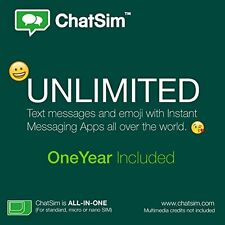 ChatSim Unlimited - Global Sim card to chat with WhatsApp, Telegram and other.