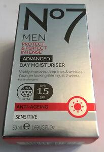 No7 for Men Protect & and Perfect Advanced Day face cream Moisturiser 50ml Spf15