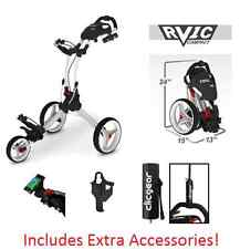 Rovic RV1C by Clicgear Compact Golf Push Cart Arctic/White Clic Gear 3 Pull