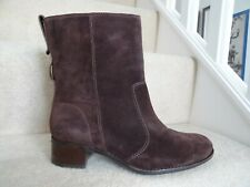 TIMBERLAND BROWN SUEDE LEATHER ABOVE ANKLE RIDING STYLE BOOTS SIZE 6 / 39 EXCELL