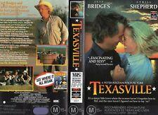 TEXASVILLE - Bridges & Shepherd  -VHS-PAL-NEW-Never played!-Original Oz release