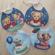 Baby Bibs 4pkt, Teddy bears