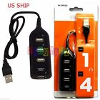 4 Port USB 2.0 Super Compact Multi Charger Hub High Speed Adapter Laptop PC