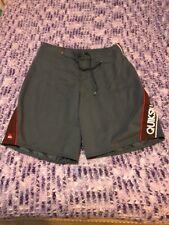 Gray & Maroon QuickSilver Board Shorts Sz 30 (C)