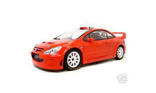 2005 PEUGEOT 307 WRC PLAIN RED 1:18 DIECAST MODEL CAR BY AUTOART 80557